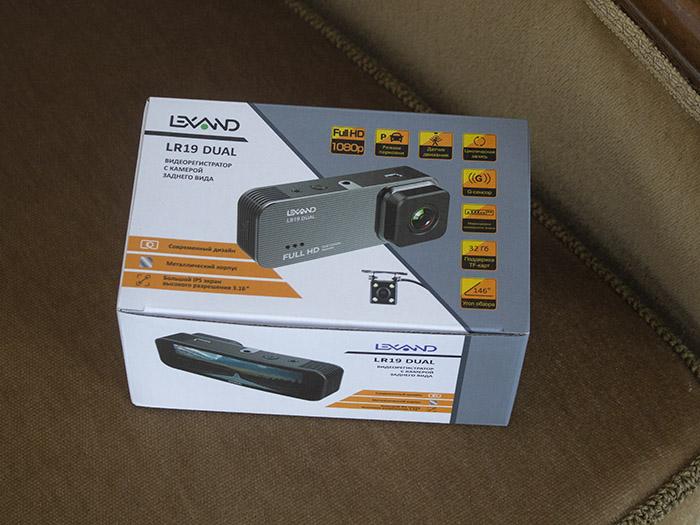 коробка Lexand LR19 DUal регистратор
