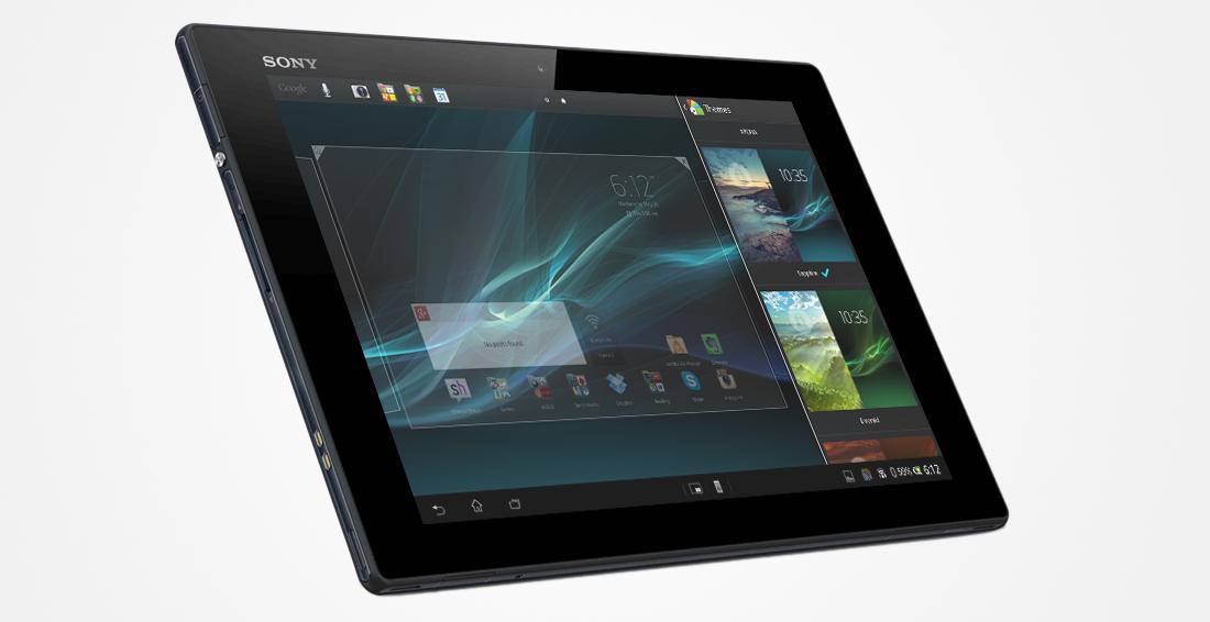 Sony Xperia Tablet Z, вид спереди