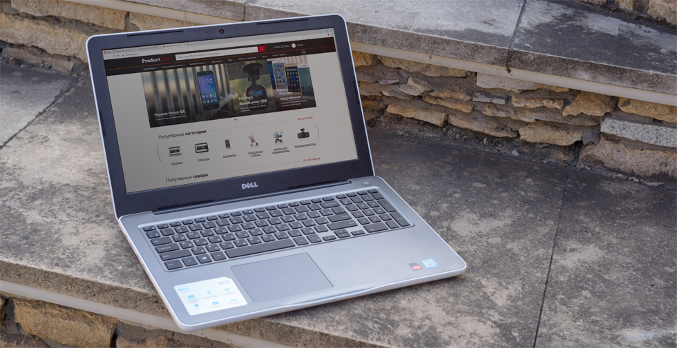 Внутреннее убранство Dell Inspiron 15 5567.