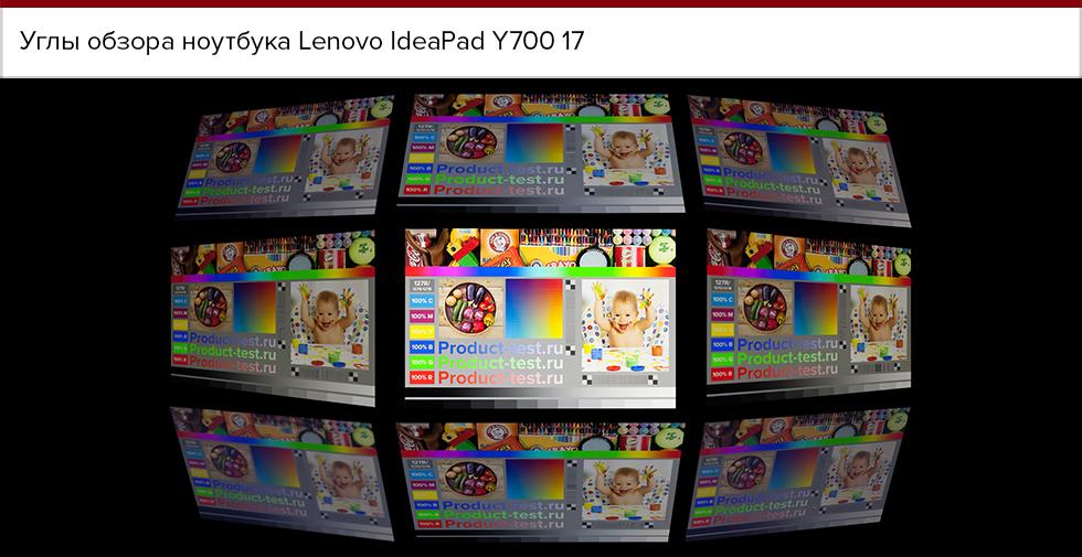Углы обзора Lenovo IdeaPad Y700 17.