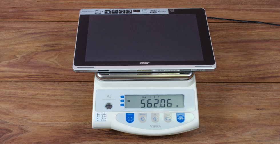 Acer Aspire Switch 10 на весах