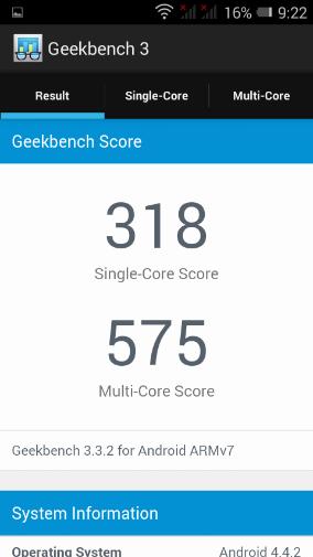 Geekbench 3 невысоко оценил Alcatel PIXI 3 (4,5)