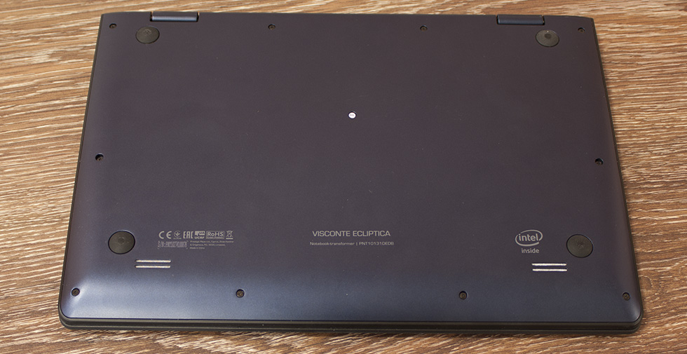 Днище ноутбука Prestigio Visconte Ecliptica.